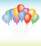 Party balloons  illustration. Realistic  illustration of a bunch of party balloons Royalty Free Stock Photo