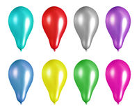 Party balloons. Isolated on white background Royalty Free Stock Photos