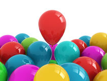 Party balloons multi color Royalty Free Stock Photo