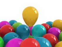 Party balloons multi color Stock Photography