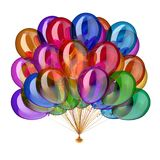Party balloons multicolor glossy, holiday balloon bunch colorful. Party balloons multicolor glossy, holiday balloon bunch birthday decoration colorful, festive Stock Photos