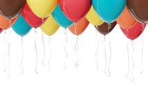 Party balloons. Multicolored balloons isolated on white. 3D render Stock Photography