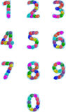 Party balloons numbers. Colorful party balloons numbers, can be resized and freely used Stock Photography