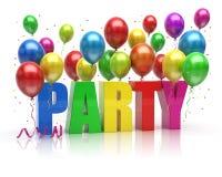 Party Balloons. On white background Royalty Free Stock Photos