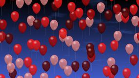 Party balloons stock video