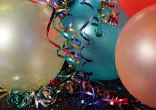 Party balloons with Ribbons Stock Photos