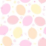 Party balloons seamless pattern. Colorful party balloons with confetti seamless pattern party invitation backgrounds Royalty Free Stock Image
