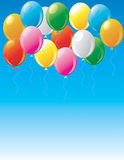 Party balloons in the sky Royalty Free Stock Photos