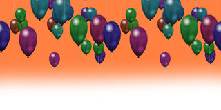 Party balloons. Suitable as a greeting card or invitation Stock Images