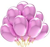 Party balloons translucent colored pink. Royalty Free Stock Images
