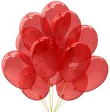 Party balloons translucent colored red. Stock Images