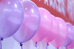 Party balloons. Balloons are used to decorate the room Royalty Free Stock Photos