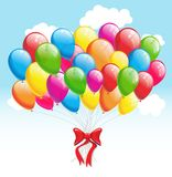 Party balloons. Vector illustration Royalty Free Stock Images