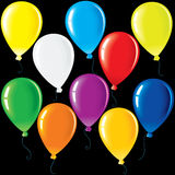 Party Balloons. Vector Illustration. Colorful Party Balloons. Vector Colorful Clip Art for Your Festive Design Stock Photos