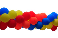 Party balloons on white Royalty Free Stock Photo