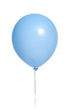 Party Balloons on white. A light blue party balloon on a white background stock image