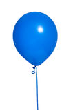 Party Balloons on white. A royal blue party balloon on a white background royalty free stock image