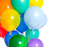 Party Balloons on white Stock Photography
