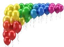 Party Balloons. On white background Royalty Free Stock Photo