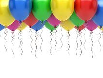 Party Balloons Carnival. Party balloons on white background Royalty Free Stock Photo