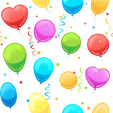 Party baloon seamless pattern Royalty Free Stock Photography