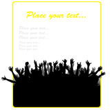 Party banner. With different people hands Stock Photo