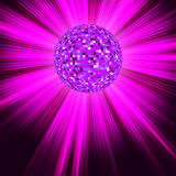 Party Banner with Disco Ball. EPS 8 Royalty Free Stock Image