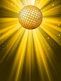 Party Banner with Disco Ball. EPS 8 royalty free illustration