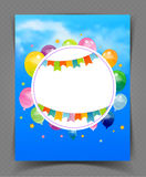 Party banner with flags and ballons Stock Photography