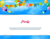 Party banner with flags and ballons Stock Photos