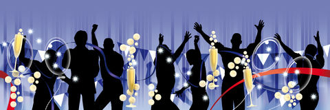 Party banner only men Royalty Free Stock Photo