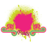 Party banner with splash Stock Photo