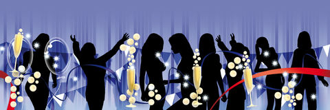 Party banner only women Royalty Free Stock Photos