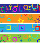 Party banners Stock Images