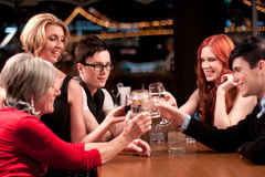 Party at a bar. Enjoying a bit of the night life royalty free stock photography