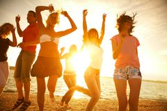 Party on the beach Royalty Free Stock Photography