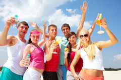 Party on beach Stock Photography