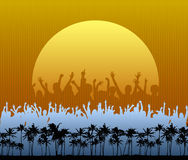 Party on the Beach stock illustration