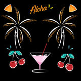 Party at the Beach illustrations Stock Photos