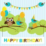 Party birds card Stock Images