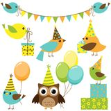 Party birds set Royalty Free Stock Photography