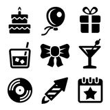 Party and Birthday Icons Set. Vector Stock Image