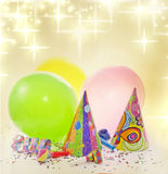 Party birthday new year background Royalty Free Stock Photo