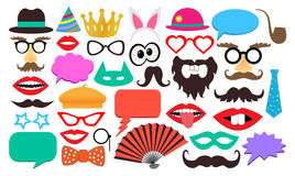 Party birthday photo booth props.  Royalty Free Stock Photos