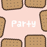 Party biscuit background Royalty Free Stock Photo