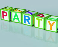 Party Blocks Mean Function Celebrating Or Drinks Royalty Free Stock Photography