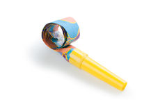Party blower. On white background royalty free stock image