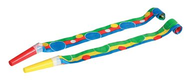 Party Blowers. Photo on the white background Royalty Free Stock Photo
