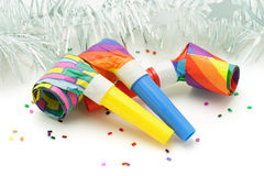 Party blowers Royalty Free Stock Image