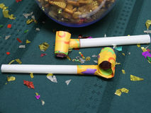 Party blowers close up Royalty Free Stock Photography